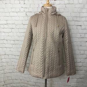 Kate Spade Moto Jacket Coat Medium NWT Tan